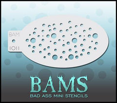 BAM1011 Bad Ass Mini Stencil - Silly Farm Supplies
