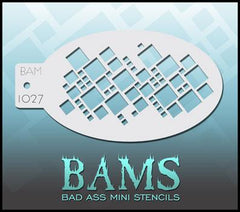BAM1027 Bad Ass Mini Stencil - Silly Farm Supplies