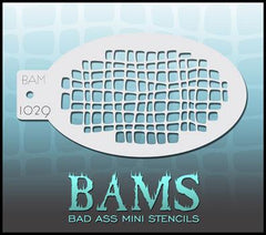 BAM1029 Bad Ass Mini Stencil - Silly Farm Supplies