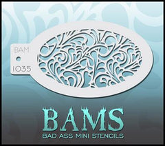 BAM1035 Bad Ass Mini Stencil - Silly Farm Supplies