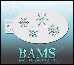 BAM1036 Bad Ass Mini Stencil - Silly Farm Supplies