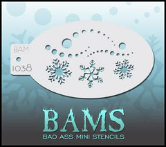 BAM1038 Bad Ass Mini Stencil - Silly Farm Supplies