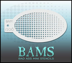 BAM1206 Bad Ass Mini Stencil - Silly Farm Supplies