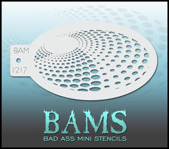 BAM1217 Bad Ass Mini Stencil - Silly Farm Supplies