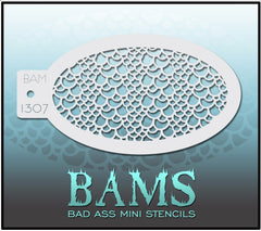 BAM1307 Bad Ass Mini Stencil - Silly Farm Supplies