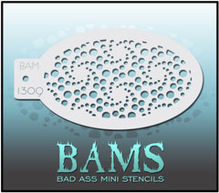 BAM1309 Bad Ass Mini Stencil - Silly Farm Supplies