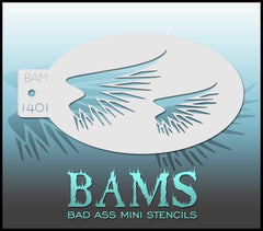 BAM1401 Bad Ass Mini Stencil - Silly Farm Supplies