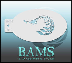 BAM1411 Bad Ass Mini Stencil - Silly Farm Supplies
