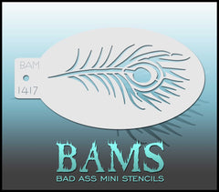 BAM1417 Bad Ass Mini Stencil - Silly Farm Supplies