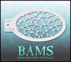 BAM2003 Bad Ass Mini Stencil - Silly Farm Supplies