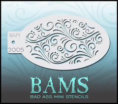 BAM2005 Bad Ass Mini Stencil - Silly Farm Supplies