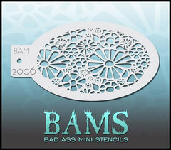 BAM2006 Bad Ass Mini Stencil - Silly Farm Supplies