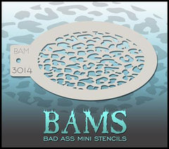 BAM3014 Bad Ass Mini Stencil - Silly Farm Supplies
