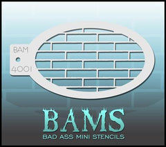 BAM4001 Bad Ass Mini Stencil - Silly Farm Supplies