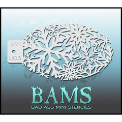 BAMH03 Bad Ass Mini Holiday Stencil - Silly Farm Supplies