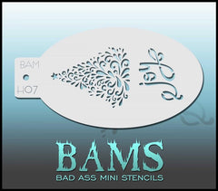 BAMH07 Bad Ass Mini Holiday Stencil - Silly Farm Supplies