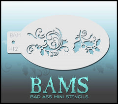 BAMH12 Bad Ass Mini Holiday Stencil - Silly Farm Supplies