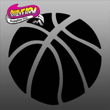 Basketball Glitter Tattoo Stencil 10 Pack