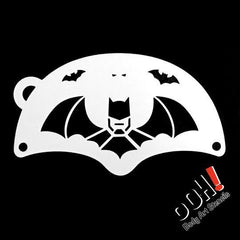 Bat Hero Mask Face Paint Stencil by Ooh! Body Art (K03) - Silly Farm Supplies