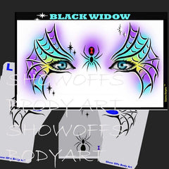 Black Widow Stencil Eyes Stencil - Silly Farm Supplies