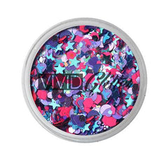 Blazin Unicorn Loose Glitter Jar 7.5g by Vivid Glitter - Silly Farm Supplies
