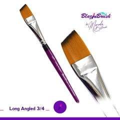 Blazing Brush Long Angled 3/4 Brush by Marcela Bustamante - Silly Farm Supplies