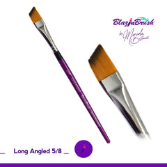 Blazing Brush Long Angled 5/8 Brush by Marcela Bustamante - Silly Farm Supplies
