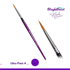 Blazing Brush Ultra Point #4 Brush by Marcela Bustamante - Silly Farm Supplies