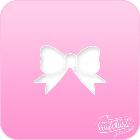 Bow Pink Power Stencil