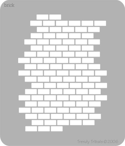 Brick Splash Trendy Tribal Stencil