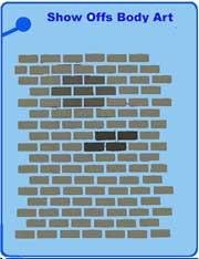 Bricks QuickEZ Stencil - Silly Farm Supplies