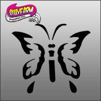 Butterfly 1(butterfly with pointed tips) Glitter Tattoo Stencil 10 Pack - Silly Farm Supplies