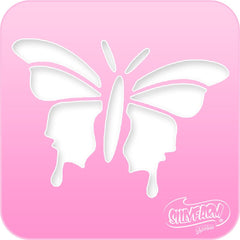 Butterfly 2 Pink Power Stencil - Silly Farm Supplies