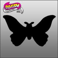 Butterfly3 (butterfly silhouette-rounded wings) Glitter Tattoo Stencil 10 Pack - Silly Farm Supplies