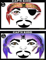 Cap'n Kidd Stencil Eyes Stencil (Pirate) - Silly Farm Supplies