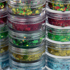 Christmas Miracle Chunky Loose Glitter Mix Stack- 5 7.5g by Vivid Glitter - Silly Farm Supplies