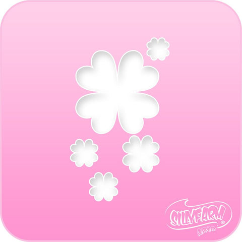 Clover Bunch Pink Power Stencil