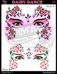 Daisy Dance Stencil Eyes Stencil - Silly Farm Supplies