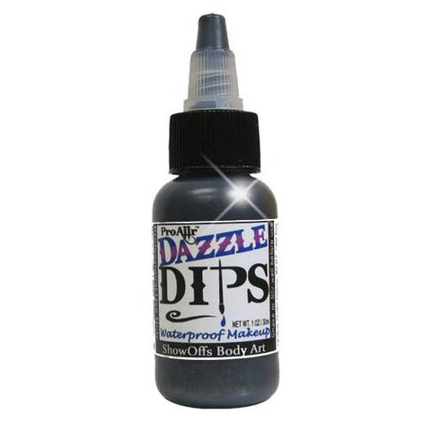 DAZZLE Dips Black 1oz Waterproof Face Paint