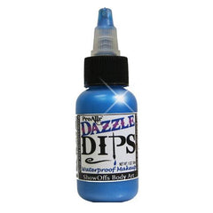 DAZZLE Dips Blue 1oz Waterproof Face Paint - Silly Farm Supplies