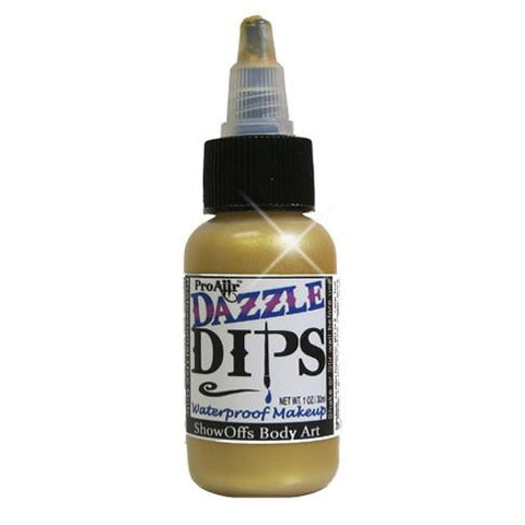 DAZZLE Dips Gold 1oz Waterproof Face Paint