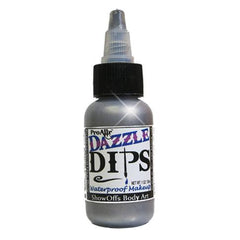 DAZZLE Dips Silver 1oz Waterproof Face Paint - Silly Farm Supplies