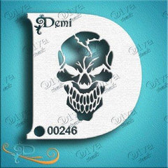Diva Demi Skull Stencil (246) - Silly Farm Supplies