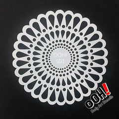 Doily Sphere Airbrush & Face Paint Stencil by Ooh! Body Art (S01) - Silly Farm Supplies