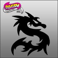 Dragon 1 Glitter Tattoo Stencil 10 Pack - Silly Farm Supplies