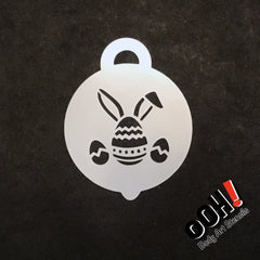 Easter Bunny Petite Face Paint Stencil by Ooh! Body Art (P08) - Silly Farm Supplies