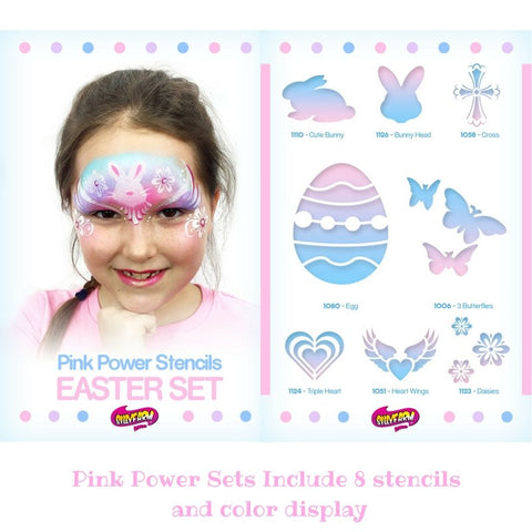 Easter Pink Power Stencil Set