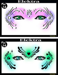 Elektra Stencil Eyes Stencil - Silly Farm Supplies