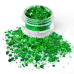 Evergreen Loose Glitter Jar 7.5g by Vivid Glitter - Silly Farm Supplies