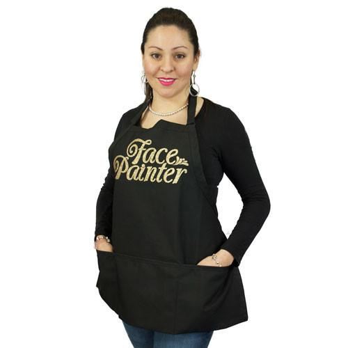 Face Painter Black with Gold Apron
